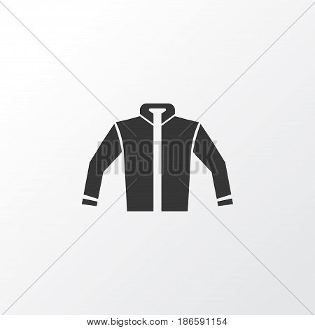 Jacket Icon Symbol. Premium Quality Isolated Cardigan Element In Trendy Style.
