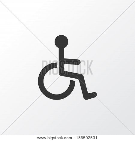 Invalid Icon Symbol. Premium Quality Isolated Disabled Element In Trendy Style.