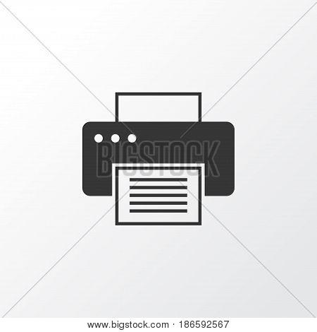 Printer Icon Symbol. Premium Quality Isolated Printing Machine Element In Trendy Style.