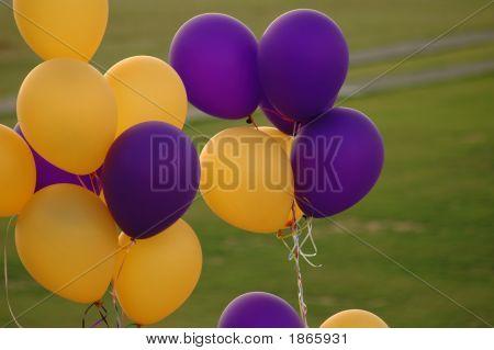 Yellow N Purple Ballons