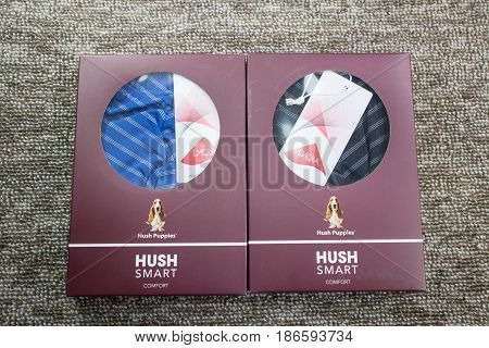 Product Shot Of Box Package Hush Puppies  Innerwear.