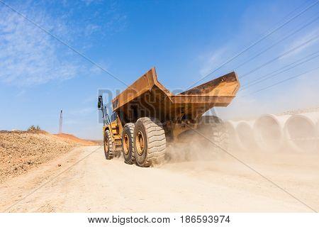 Construction Roads Earthworks Trucks