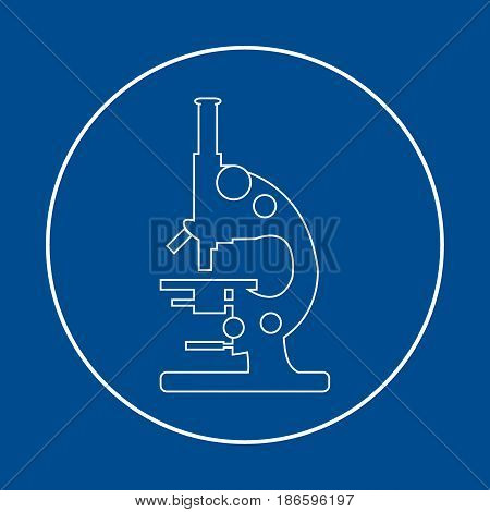 Stylized Vector Icon Of Microscope. Laboratory Equipment Symbol.