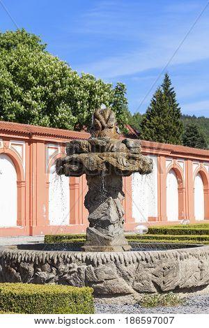 Troja Palace fountain Prague, Czech Republic, Europe