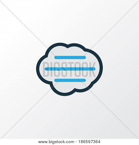 Windy Colorful Outline Symbol. Premium Quality Isolated Tempest Element In Trendy Style.