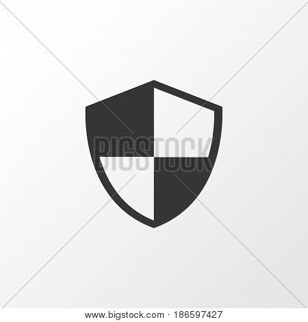 Shield Icon Symbol. Premium Quality Isolated Defense Element In Trendy Style.