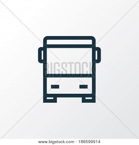Autobus Outline Symbol. Premium Quality Isolated Bus Element In Trendy Style.