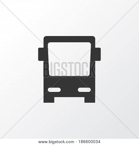 Bus Icon Symbol. Premium Quality Isolated Omnibus Element In Trendy Style.