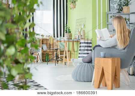 Woman In A Cosy Room