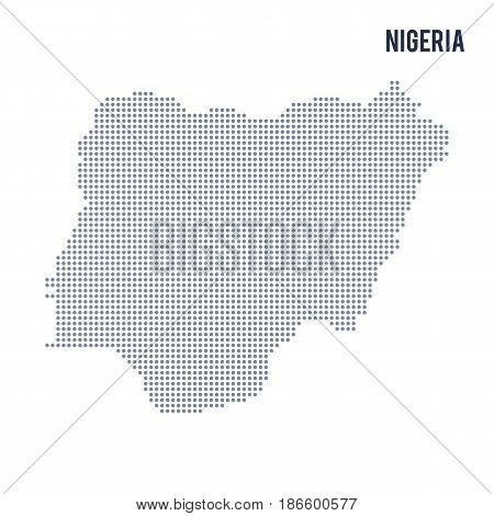 Vector dotted map of Nigeria isolated on white background . Travel vector illustration