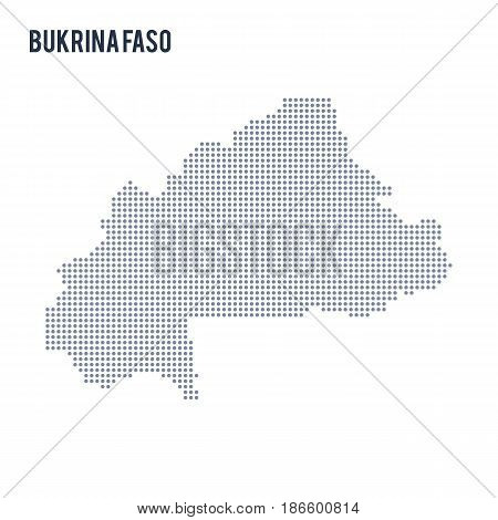 Vector dotted map of Bukina Faso isolated on white background . Travel vector illustration