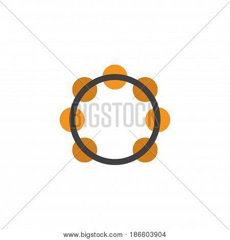 Samba Flat Icon Symbol. Premium Quality Isolated Rhythm Element In Trendy Style.