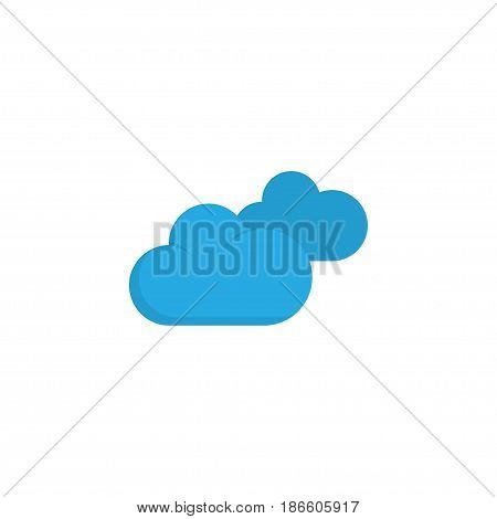 Clouds Flat Icon Symbol. Premium Quality Isolated Overcast Element In Trendy Style.