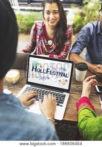 Holi Festival Color Burst Splash Explosion Paint