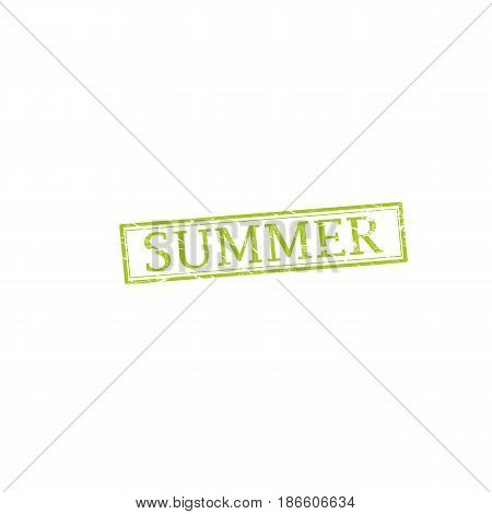 SUMMER stamp vector grunge design with scratches. Color is easily changed.