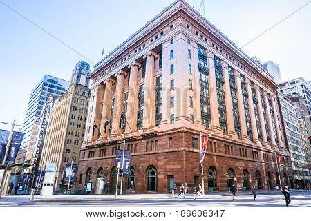 vintage commercial building in Sydney Australia taken on 3 July 2016