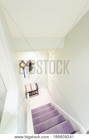View of stairs, and second story area.