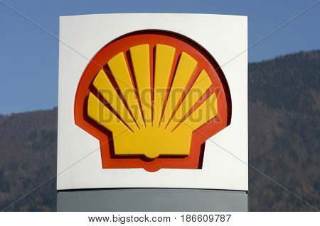 Logo Sign Of Shell Petrol Station