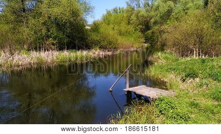 Day on the river. Russian nature