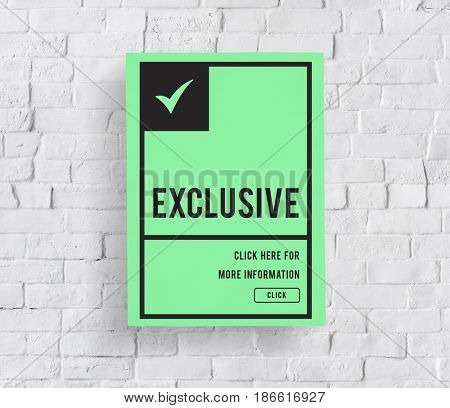 Graphic guaranteed premium and exclusive product on banner