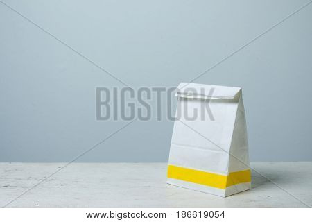 A-form white Paper Bag. Paper Bag Package for advertising and branding.