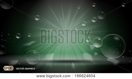 Waterdrops Splash Dazzling effect background. 3D Realistic Vector illustration