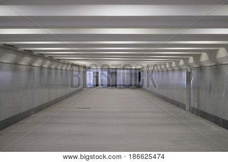 Empty pedestrian tunnel in Moscow