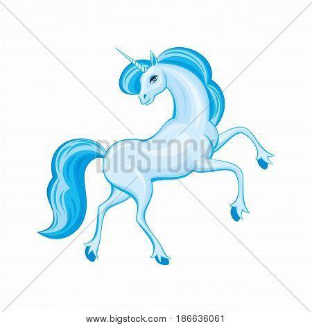 Beautiful Blue Unicorn.eps