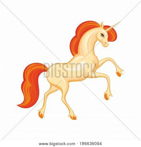 Beautiful Orange Unicorn.eps