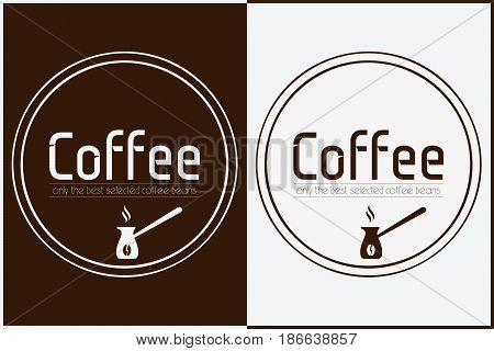 Coffee Shop Logo Design. Vector Labels Template