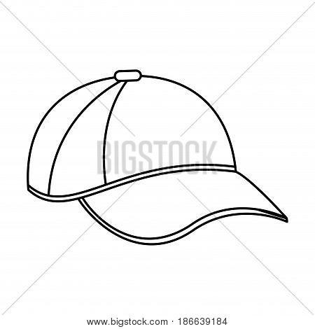 baseball hat or cap icon image vector illustration design