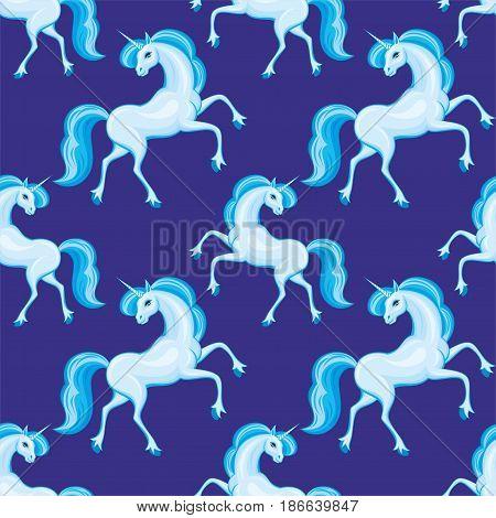 Blue Unicorn Pattern.eps