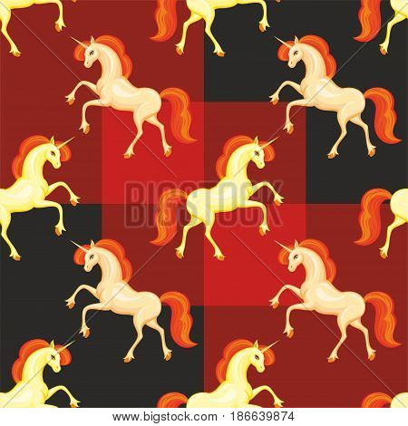 Orange Unicorn Pattern.eps