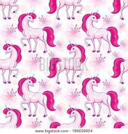 Pink Unicorn Pattern.eps