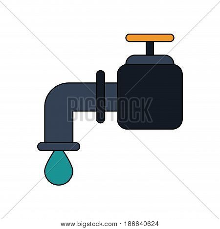 color image watertap with drop icon vector illustration