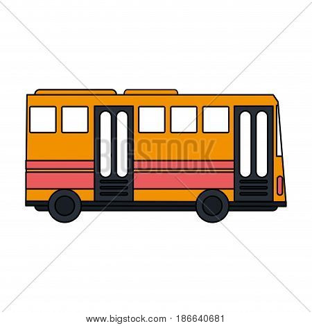 color image public service bus with two doors vector illustration