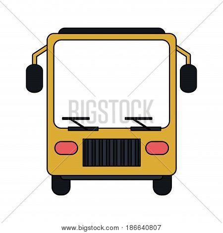 color image front view public service bus vector illustration