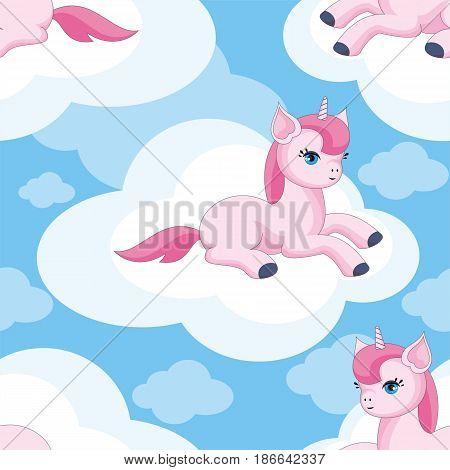 Cute Unicorn Pattern.eps