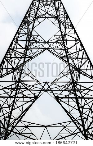siluate symmetry high voltage post power pole