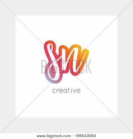 Sn Logo, Vector. Useful As Branding, App Icon, Alphabet Combination, Clip-art.