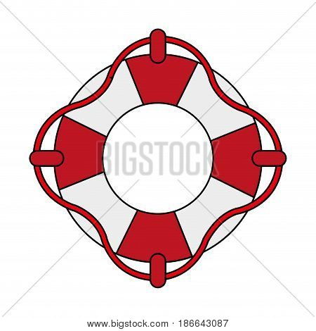 color image inflatable rings for rescue vector illustration