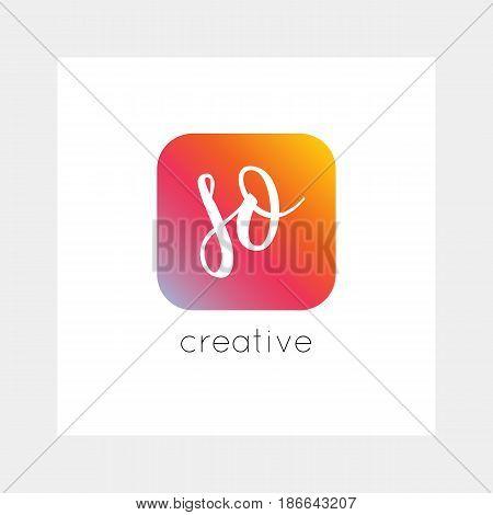 So Logo, Vector. Useful As Branding, App Icon, Alphabet Combination, Clip-art.