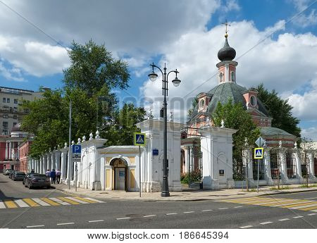 MOSCOW, RUSSIA - JUNE 23, 2016: Temple of St. Catherine the Great Martyr Bolshaya Ordynka street 60/2