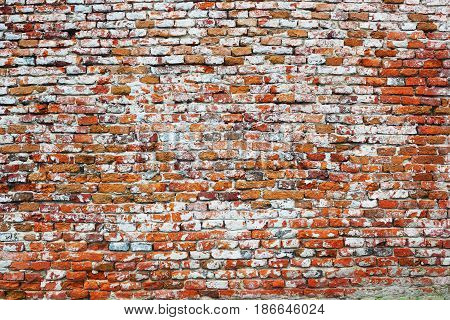 texture of old damaged brick wall ready for your architecture design
