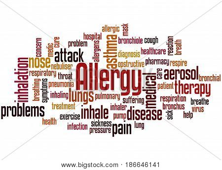 Allergy Word Cloud Concept