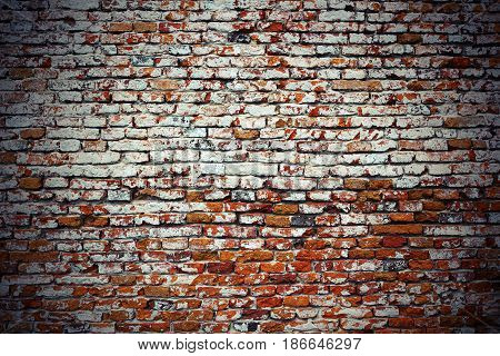 vintage textural image of red brick wall ready for your architectural design