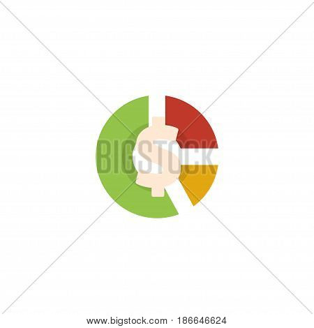 Flat Asset Element. Vector Illustration Of Flat Stock Isolated On Clean Background. Can Be Used As Stock, Asset And Chart Symbols.