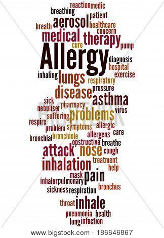 Allergy Word Cloud Concept 5