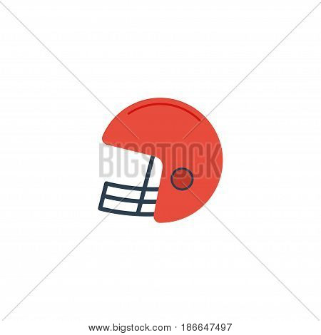 Flat Helmet Element. Vector Illustration Of Flat Rugby    Isolated On Clean Background. Can Be Used As Helmet, Rugby And Football Symbols.