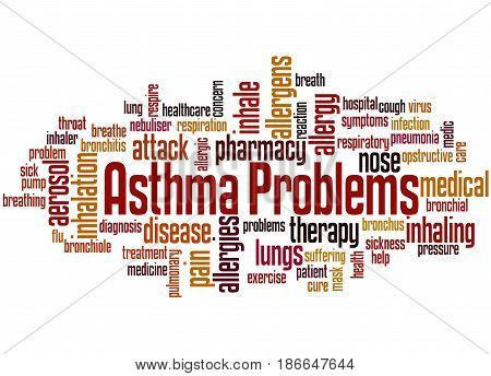 Asthma Problems, Word Cloud Concept